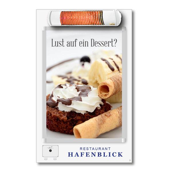 TANSUN Smokingpoint Infrarot-Heizstrahler für Raucher in der Gastronomie